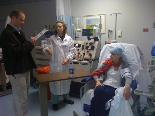 Olin, Monica and Geraldine in Apheresis