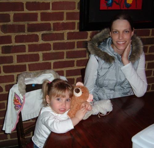 Geraldine and her daughter Viviane - Easter 2008
