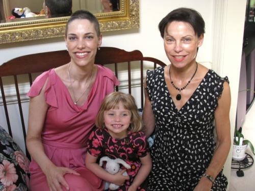 Geraldine, Viviane, and Martine on Mother's Day